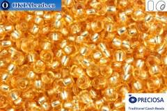 Preciosa czech seed beads 1 quality topaz silver line solgel (78183) 10/0, 50g