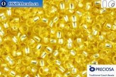 Прециоза чешский бисер 1 сорт желтый с прокрасом серебром соль-гель (78181) 10/0, 50гр