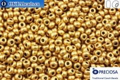 Прециоза чешский бисер 1 сорт золото металлик матовый (01710) 10/0, 50гр