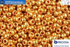 Прециоза чешский бисер 1 сорт золото металлик Терра (18583) 10/0, 50гр