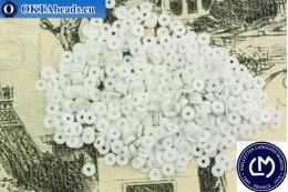 Французские пайетки Langlois-Martin белые матовые металлик (10090) 3мм, 1000шт PP037