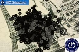 Французские пайетки Langlois-Martin черные (Noir) 3мм, 1000шт PP002
