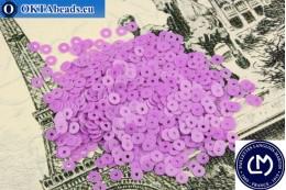 Французские пайетки Langlois-Martin фиолетовые (6020) 3мм, 1000шт PP010