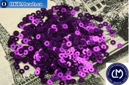 Французские пайетки Langlois-Martin фиолетовые металлик (2021) 3мм, 1000шт PP021