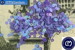 Французские пайетки Langlois-Martin фиолетовые радужные (5026) 3мм, 1000шт