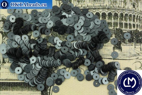 Французские пайетки Langlois-Martin гематит матовые металлик (10071) 4мм, 1000шт PP052