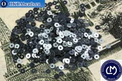 Французские пайетки Langlois-Martin гематит металлик (2070) 3мм, 1000шт