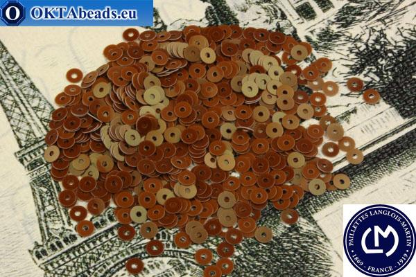 Французские пайетки Langlois-Martin коричневые (6066) 3мм, 1000шт PP016