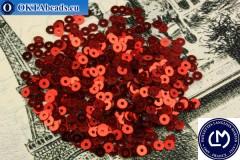 Французские пайетки Langlois-Martin красные металлик (2006) 3мм, 1000шт PP019