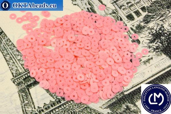 Французские пайетки Langlois-Martin розовые (6010) 4мм, 1000шт PP030