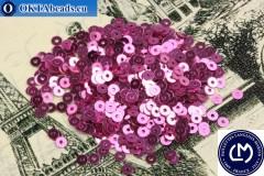 Французские пайетки Langlois-Martin розовые металлик (2010) 3мм, 1000шт