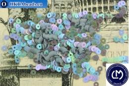 Французские пайетки Langlois-Martin серые радужные (5071) 3мм, 1000шт PP047