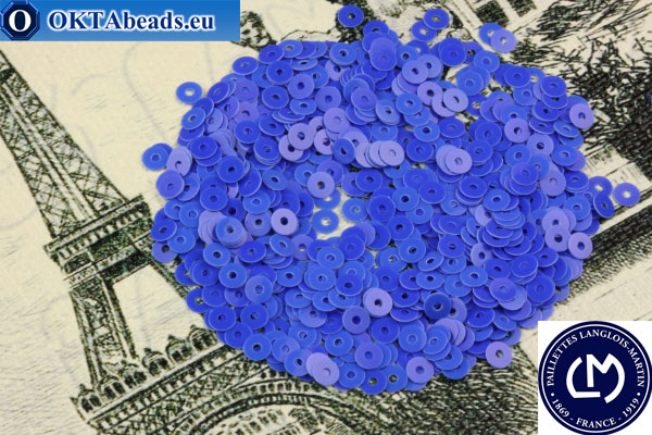 French sequins Langlois-Martin blue (6031) 3mm, 1000pc PP012