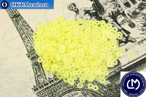 Французские пайетки Langlois-Martin желтые (6055) 3мм, 1000шт PP015