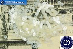 Французские пайетки Langlois-Martin белые (4501) 3мм, 1000шт