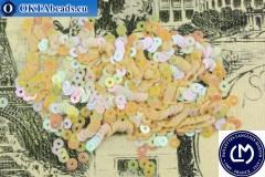 Французские пайетки Langlois-Martin бежевые радужные (5163) 3мм, 1000шт