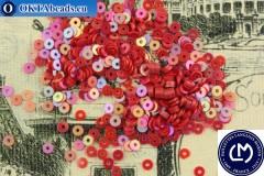 Французские пайетки Langlois-Martin красные радужные (5011) 3мм, 1000шт