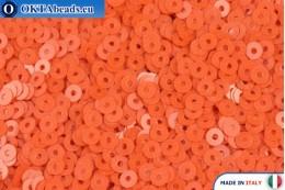 Italian flat sequins Arancione Opaline (3194) 3mm, 2gr ITP-P3-3194