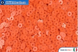 Итальянские плоские пайетки Arancione Opaline (3194) 3мм, 2гр ITP-P3-3194