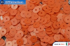 Итальянские плоские пайетки Arancione Opaline (3194) 4мм, 2гр ITP-P4-3194