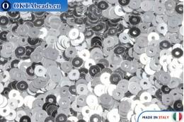 Italian flat sequins Argento Metallizzati (1111) 3mm, 2gr ITP-P3-1111