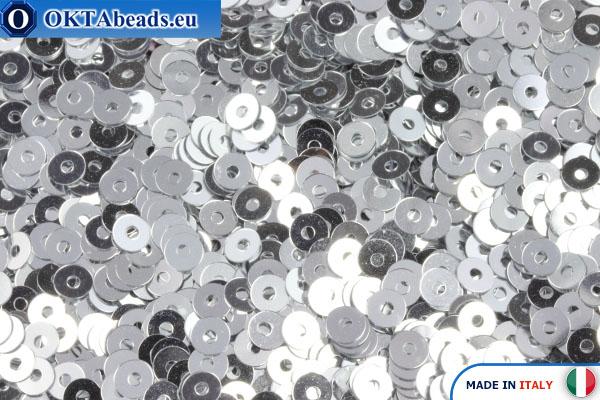 Итальянские плоские пайетки Argento Metallizzati (1111) 3мм, 2гр ITP-P3-1111