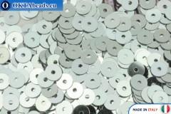 Italské ploché flitry Argento Metallizzati (1111) 4mm, 2gr ITP-P4-1111