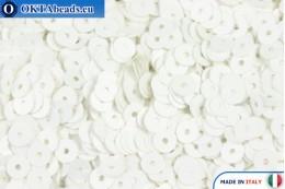 Italian flat sequins Bianco Satinati (176W) 4mm, 2gr ITP-P4-176W