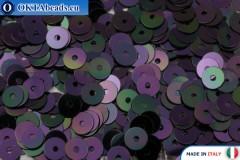 Итальянские плоские пайетки Black Orientali (5020) 4мм, 2гр ITP-P4-5020