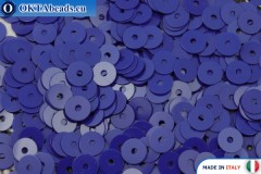 Итальянские плоские пайетки Blu Elettrico Opaline (6774) 4мм, 2гр ITP-P4-6774