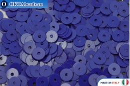 Italské ploché flitry Blu Elettrico Opaline (6774) 4mm, 2gr ITP-P4-6774