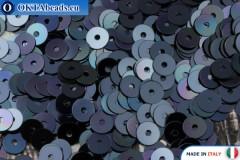 Итальянские плоские пайетки Blu Navy Metallizzati (6741) 4мм, 2гр ITP-P4-6741