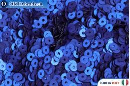 Итальянские плоские пайетки Bluette Satinati (616W) 3мм, 2гр ITP-P3-616W