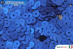 Итальянские плоские пайетки Bluette Satinati (616W) 4мм, 2гр ITP-P4-616W