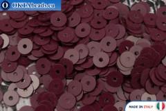 Итальянские плоские пайетки Bordeaux Opaline (4504) 4мм, 2гр ITP-P4-4504