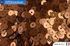 Итальянские плоские пайетки Bronzo Metal (8179) 4мм, 2гр