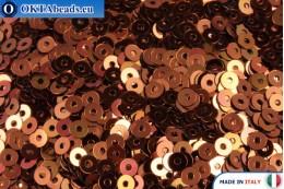 Итальянские плоские пайетки Bronzo Metallizzati (8171) 3мм, 2гр ITP-P3-8171