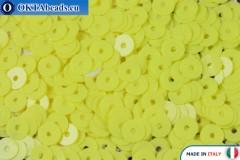 Итальянские плоские пайетки Giallo Limone Opaline (2134) 4мм, 2гр ITP-P4-2134