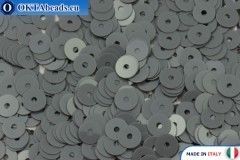 Итальянские плоские пайетки Grigio Fumo Opaline (9004) 4мм, 2гр ITP-P4-9004