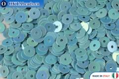 Итальянские плоские пайетки Light Blue Orientali (0164) 4мм, 2гр ITP-P4-0164