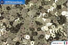 Итальянские плоские пайетки Oro Antico Metallizzati (2071) 3мм, 2гр ITP-P3-2071