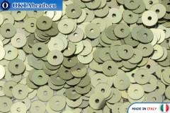 Итальянские плоские пайетки Oro Antico Metallizzati (2071) 4мм, 2гр ITP-P4-2071