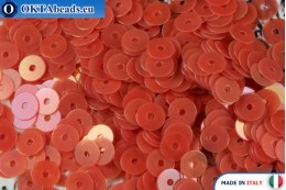 Итальянские плоские пайетки Red Orientali (0154) 4мм, 2гр