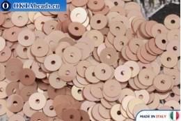 Итальянские плоские пайетки Rosa Antico Metal (3029) 4мм, 2гр ITP-P4-3029