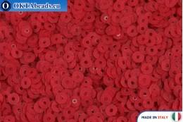 Итальянские плоские пайетки Rosso Fancy (466F) 3мм, 2гр ITP-P3-466F