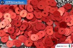 Итальянские плоские пайетки Rosso Metal (4369) 4мм, 2гр ITP-P4-4369