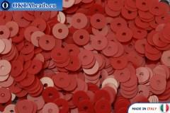 Итальянские плоские пайетки Rosso Vivo Opaline (4064) 4мм, 2гр ITP-P4-4064