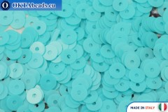 Итальянские плоские пайетки Turchese Opaline (6044) 4мм, 2гр ITP-P4-6044