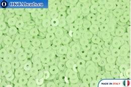 Итальянские плоские пайетки Verde Chiaro Opaline (7664) 3мм, 2гр ITP-P3-7664