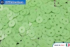 Итальянские плоские пайетки Verde Chiaro Opaline (7664) 4мм, 2гр ITP-P4-7664